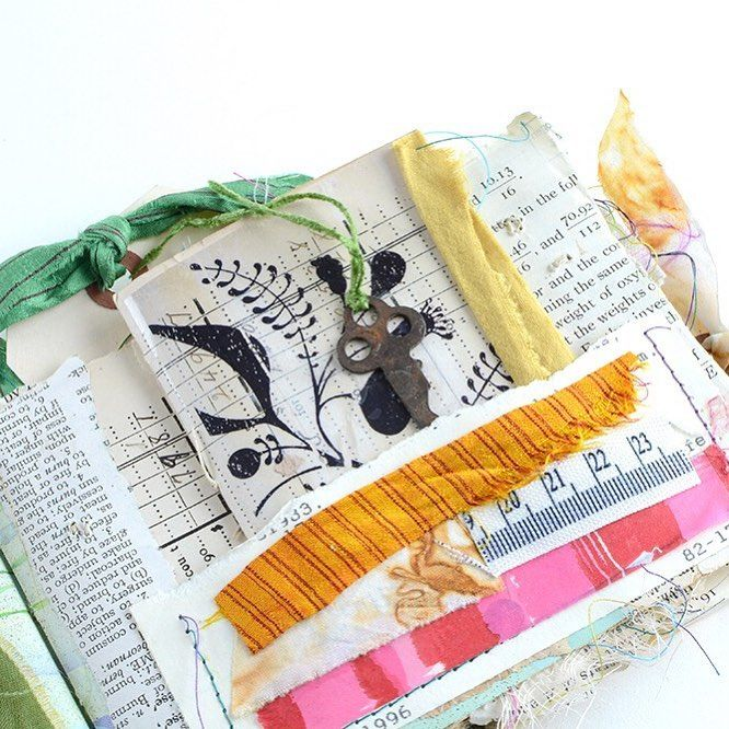 Make a Collaged Pamphlet Stitch Book