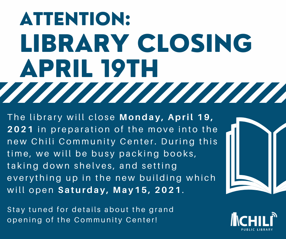 Library Closed in Preparation of Our Move!