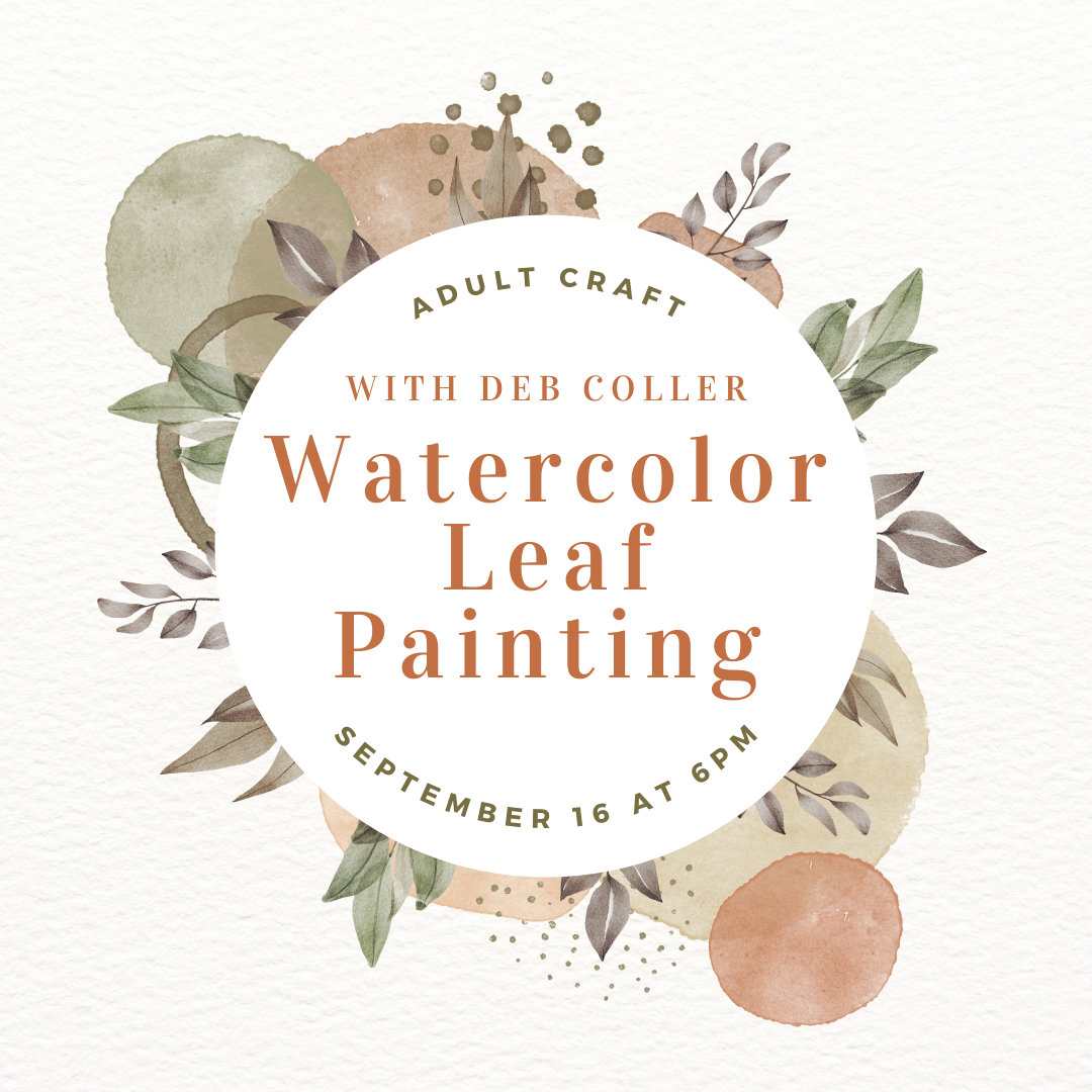Adult Craft: Watercolor Leaf Painting