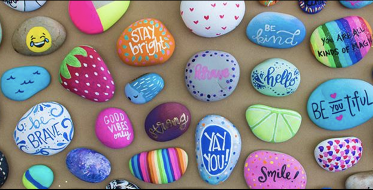 Hamlin Rocks! Paint an inspirational rock to hide in the community