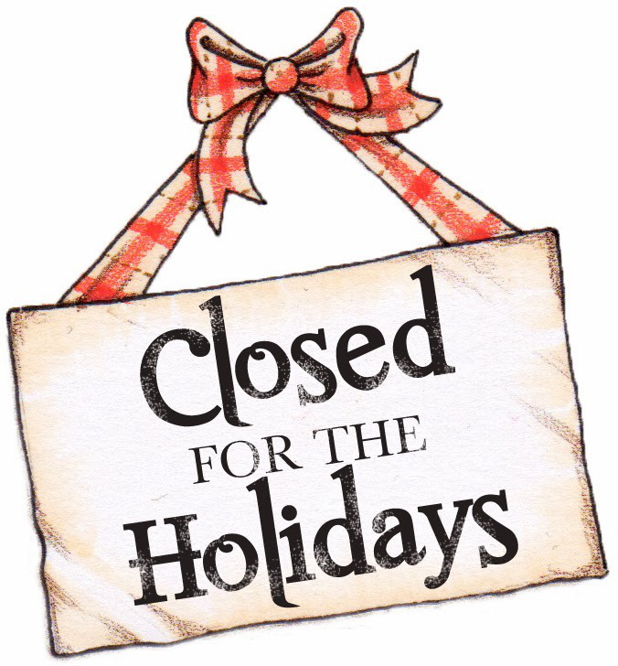 Closed for the Holidays. We will re-open Wednesday December 26th