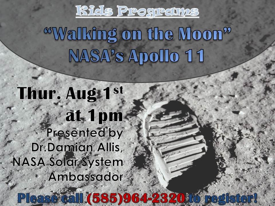 """Walking on the Moon"" - NASA's Apollo 11 - Presented by Dr. Damian Allis, NASA Solar System Ambassador"