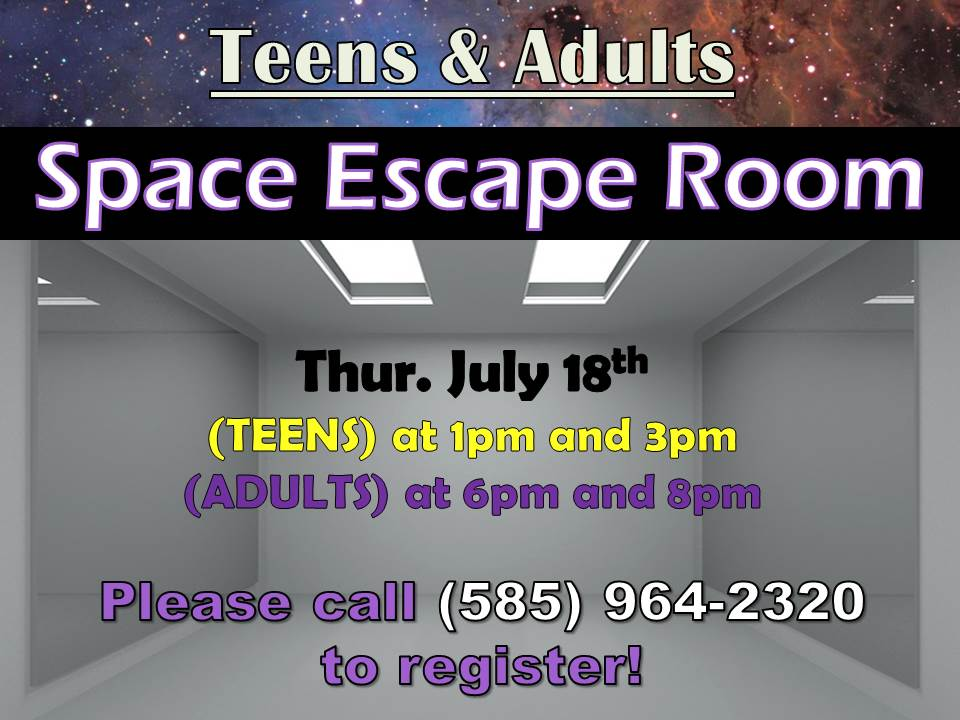 Space Escape Room - Can you escape before you are blasted off into space?