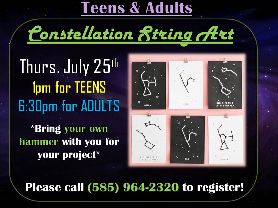 Constellation String Art - What image do you see when you look in the sky?