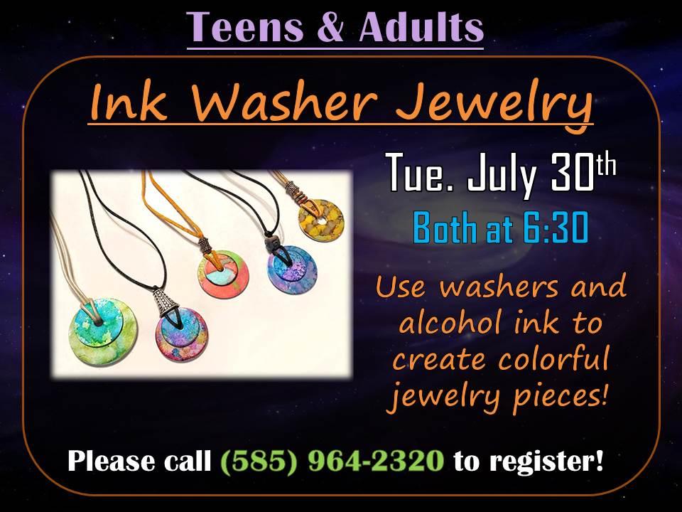 Ink Washer Jewelry