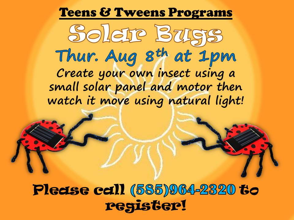 Solar Bugs - Create your own insect using a small solar panel and motor then watch it move using natural light.