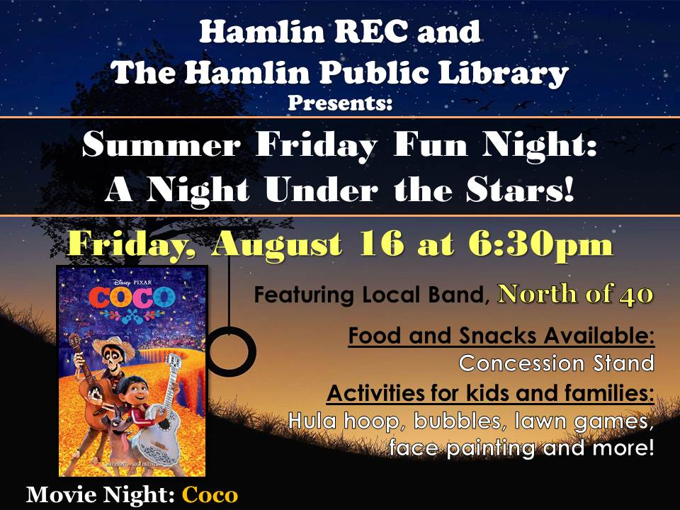 Library & Hamlin Recreation Center Summer Fun Night