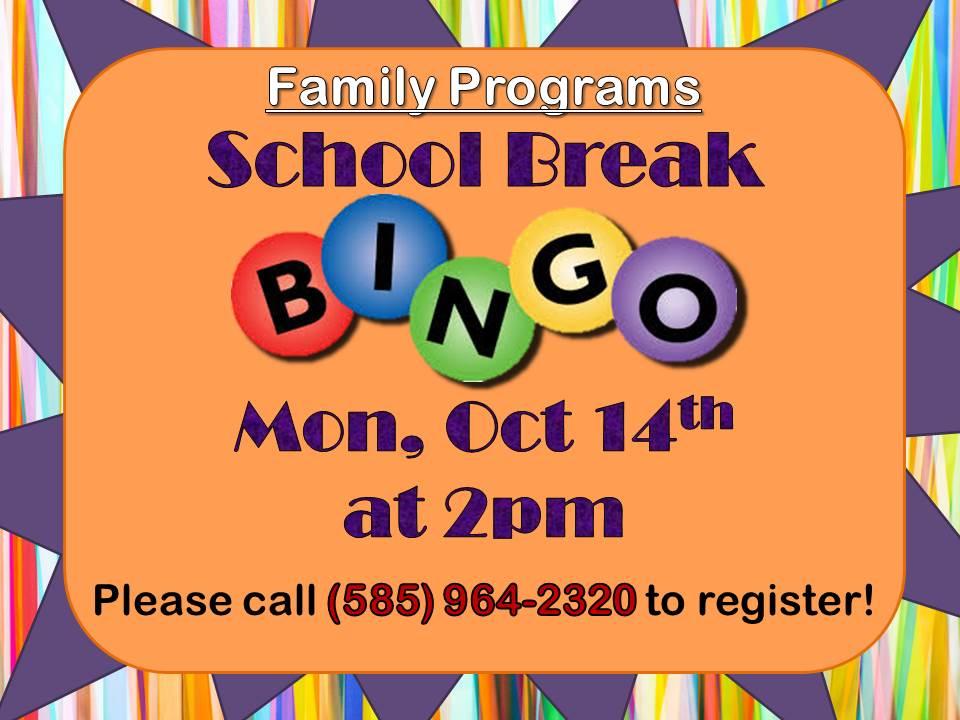 School Break Bingo