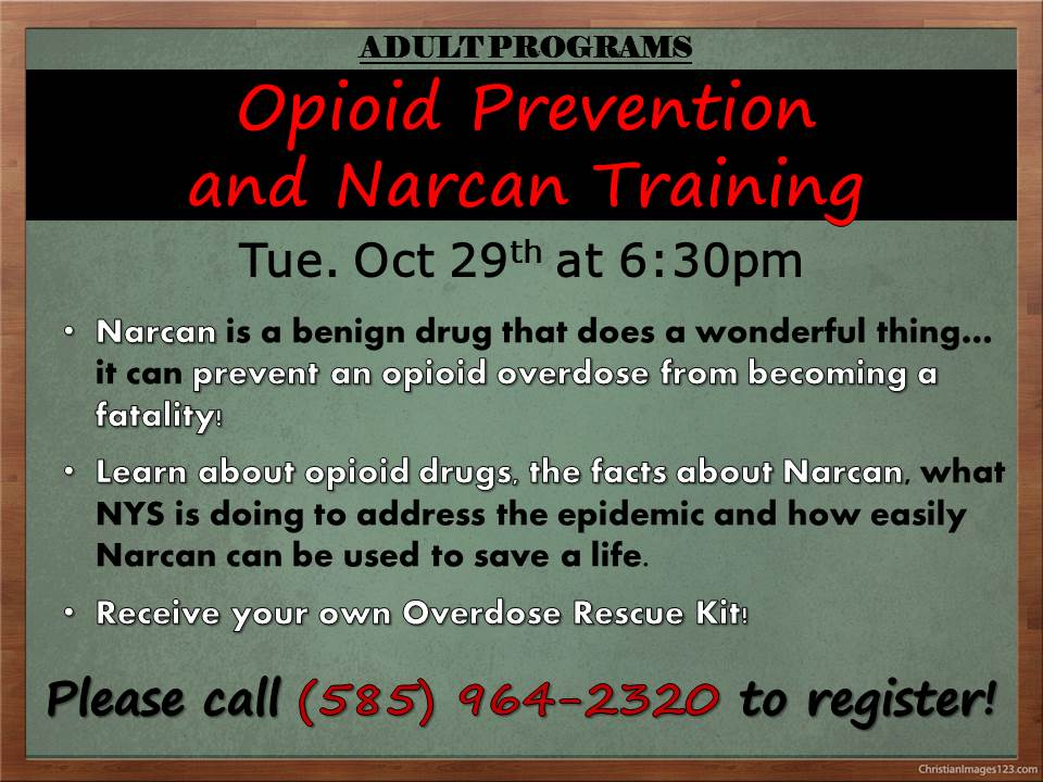 Opioid Prevention and Narcan training