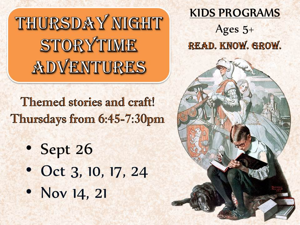 Thursday Night Storytime Adventures: Ages 5-12