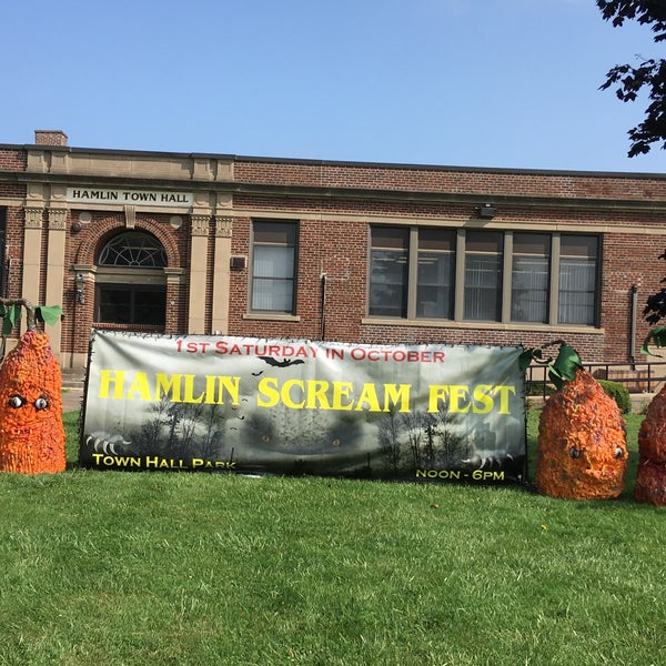 Not-so-Scary Storytime and Craft in conjunction with Hamlin Scream Fest.