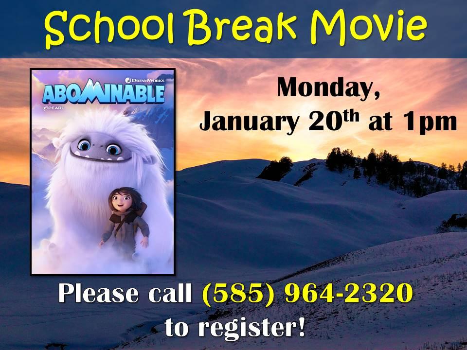 School Break Movie - Abominable Snowman