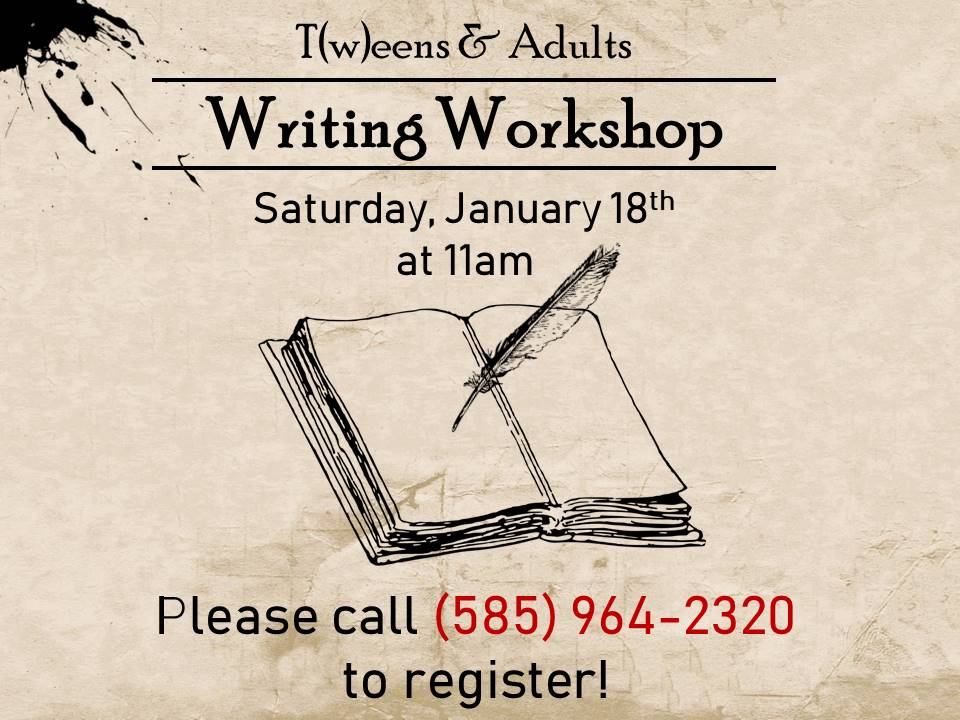 Writing Workshop - T(w)eens & Adults