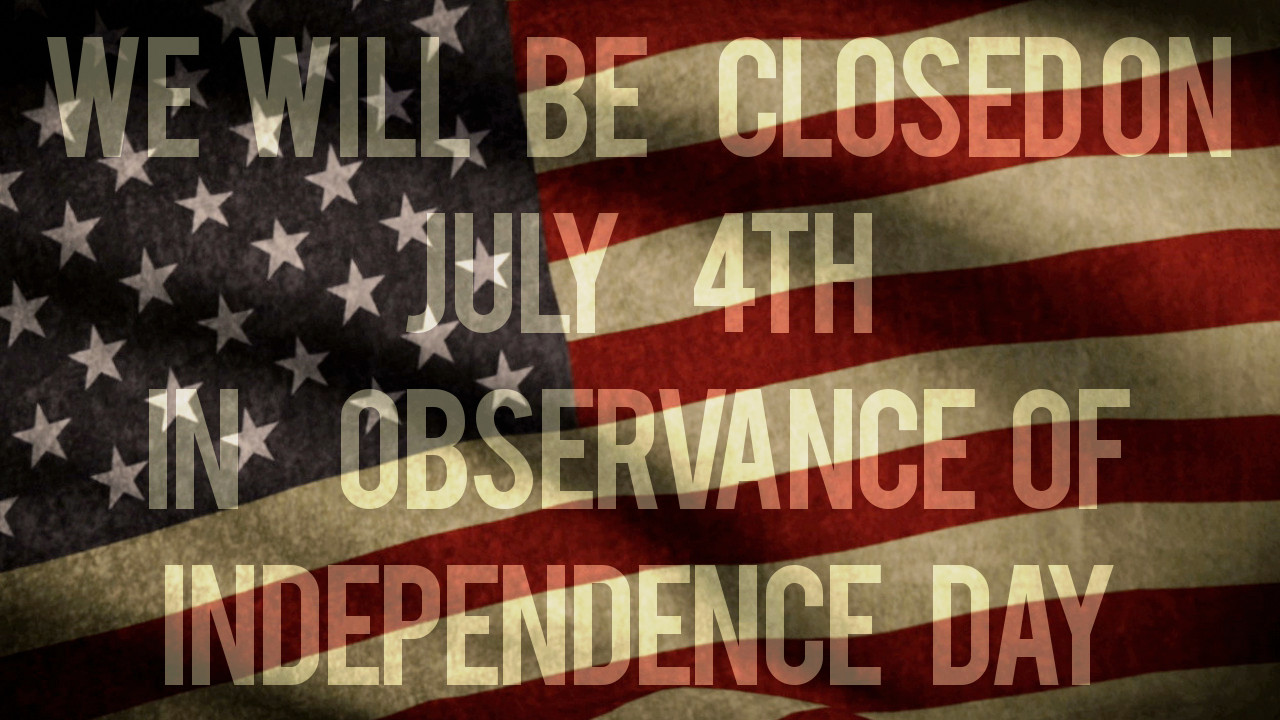 The Library is closed for the Fourth of July.