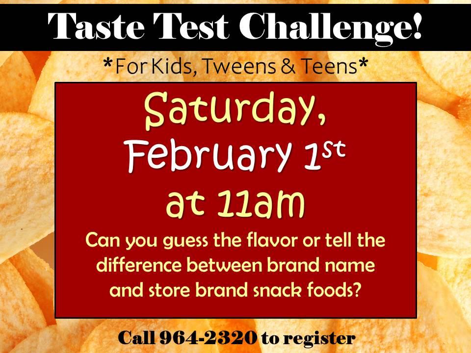 Family taste test challenge