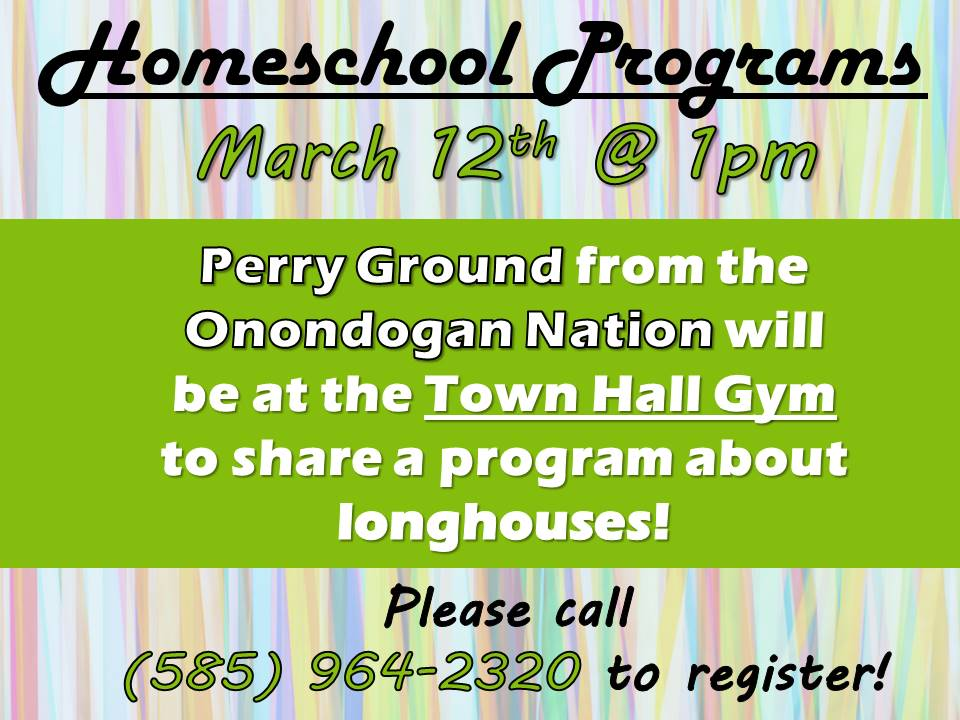 Homeschoolers @ the Library - Life in a Long House