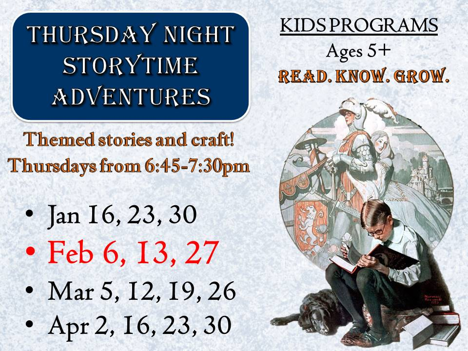 Thursday Night Storytime Adventures: Ages 5+