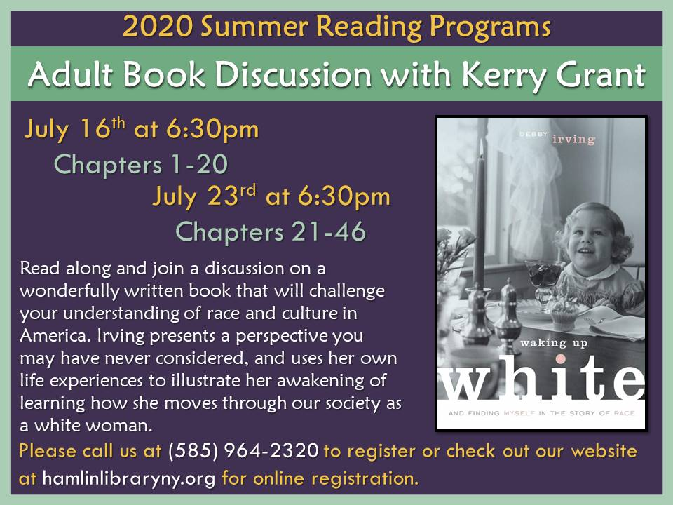 Adult Book Discussion with Kerry Grant via Zoom