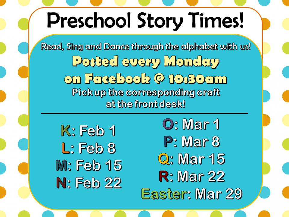 ABC Facebook Preschool Storytime with Mrs. Carlson