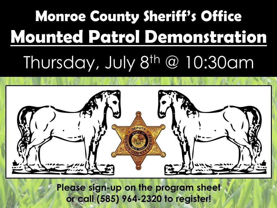 Monroe County Sheriff Office Mounted Patrol Demonstration