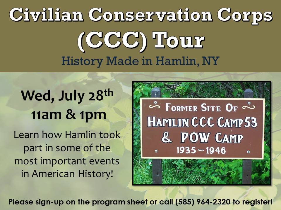 Meet at the Civilian Conservation Corps (CCC) of Hamlin for a guided tour