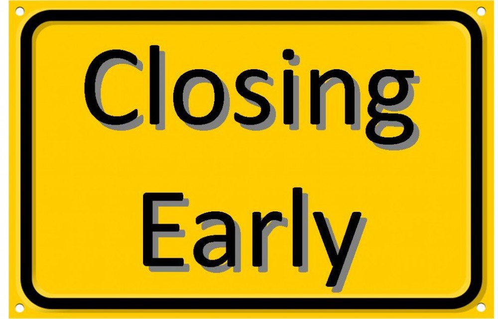 The Library will be closing early @ 4:00 for our monthly staff meeting