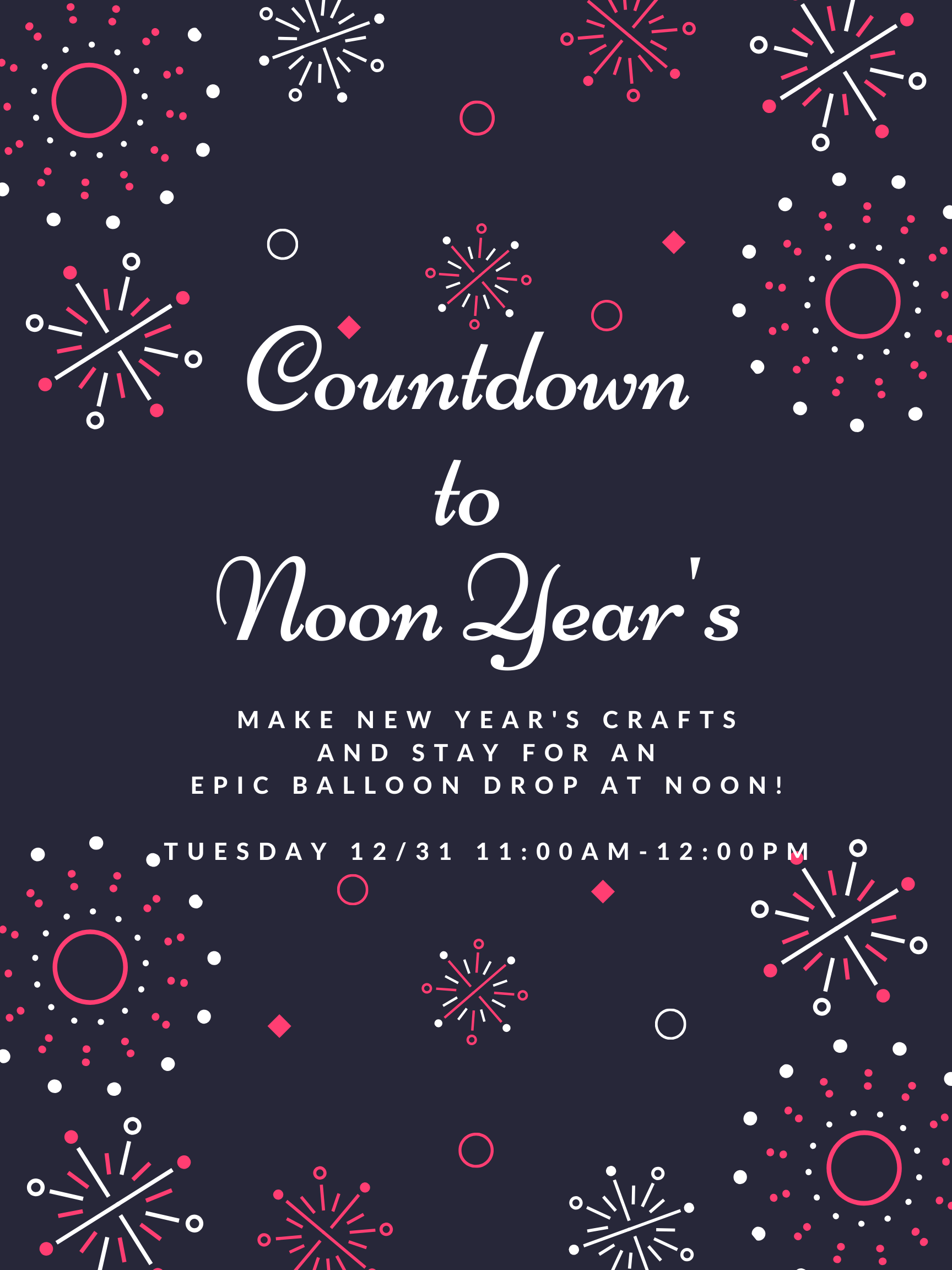 Countdown to Noon Year's Eve!