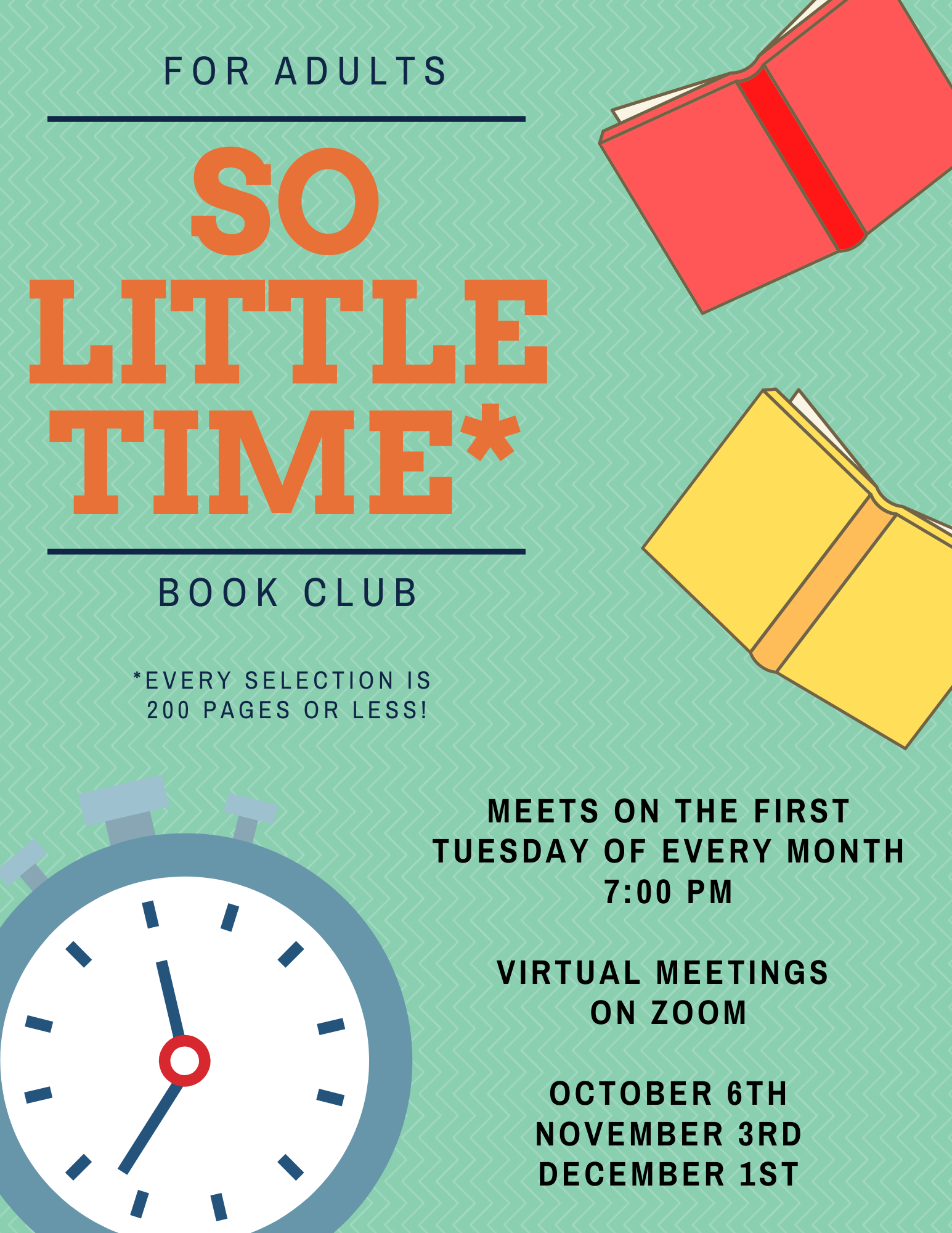 So Little Time Book Club- VIRTUAL