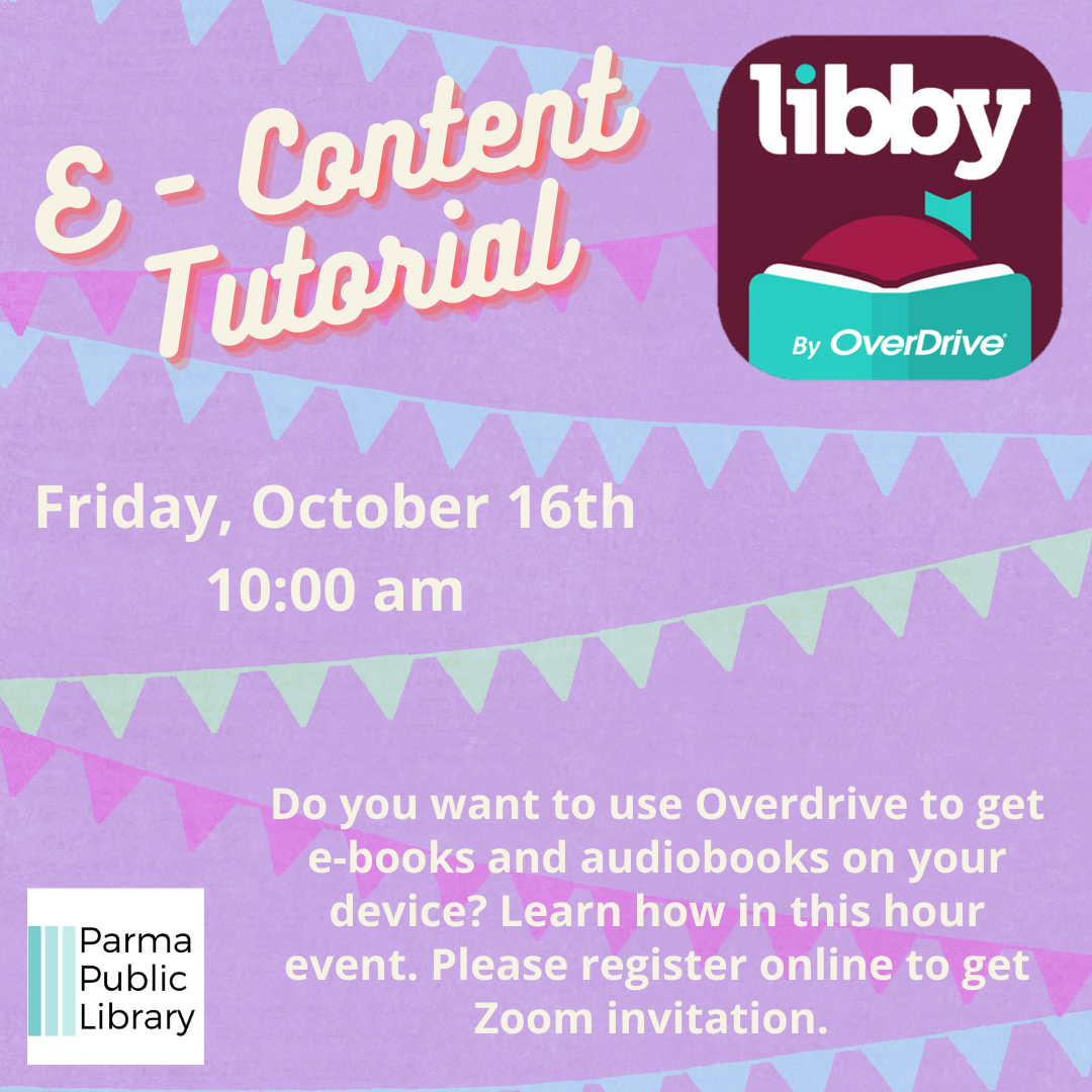 E-Content for OverDrive (Libby app) Tutorial