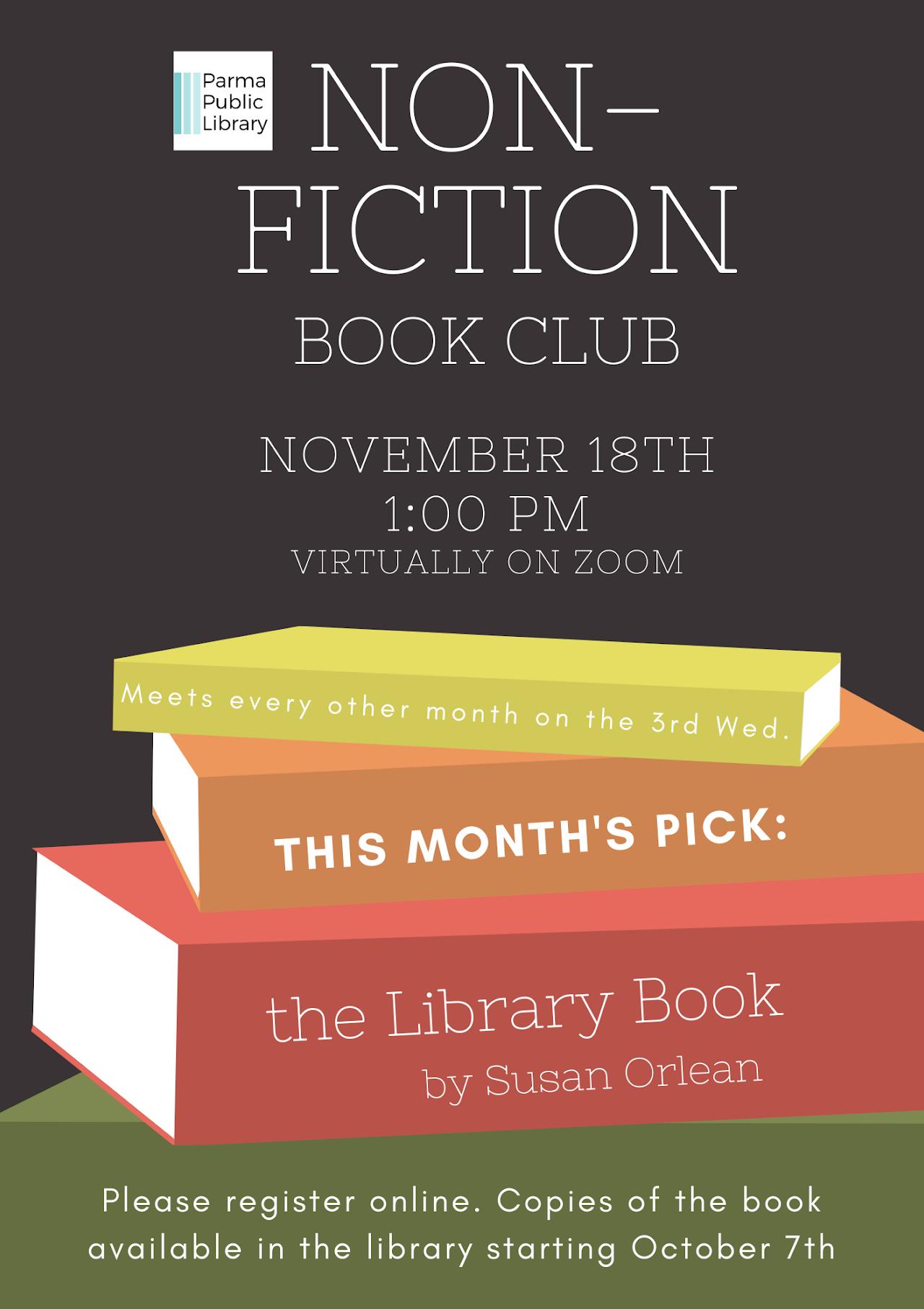 Non-Fiction Book Club VIRTUAL