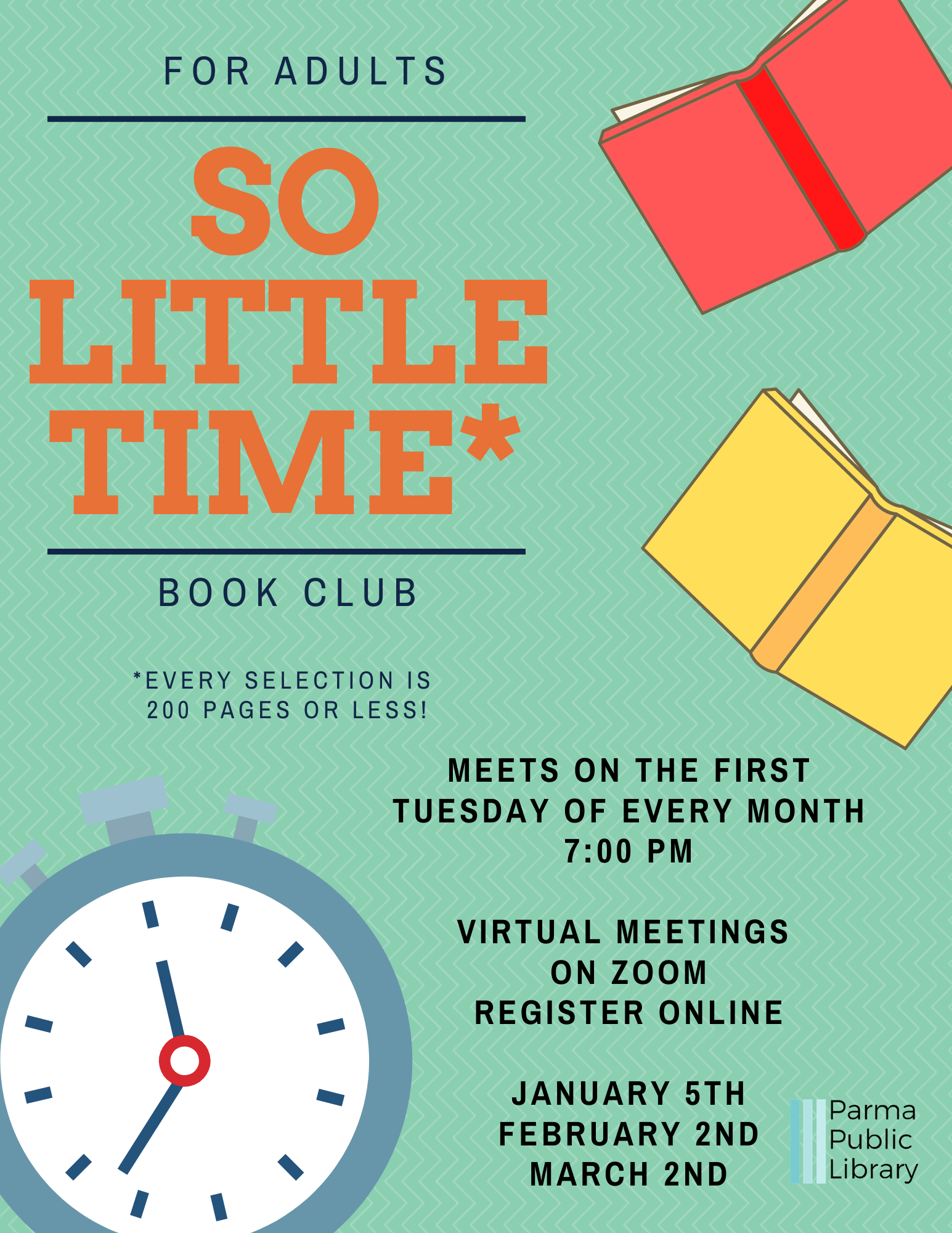 So Little Time Book Club (The Ocean at the End of the Lane)