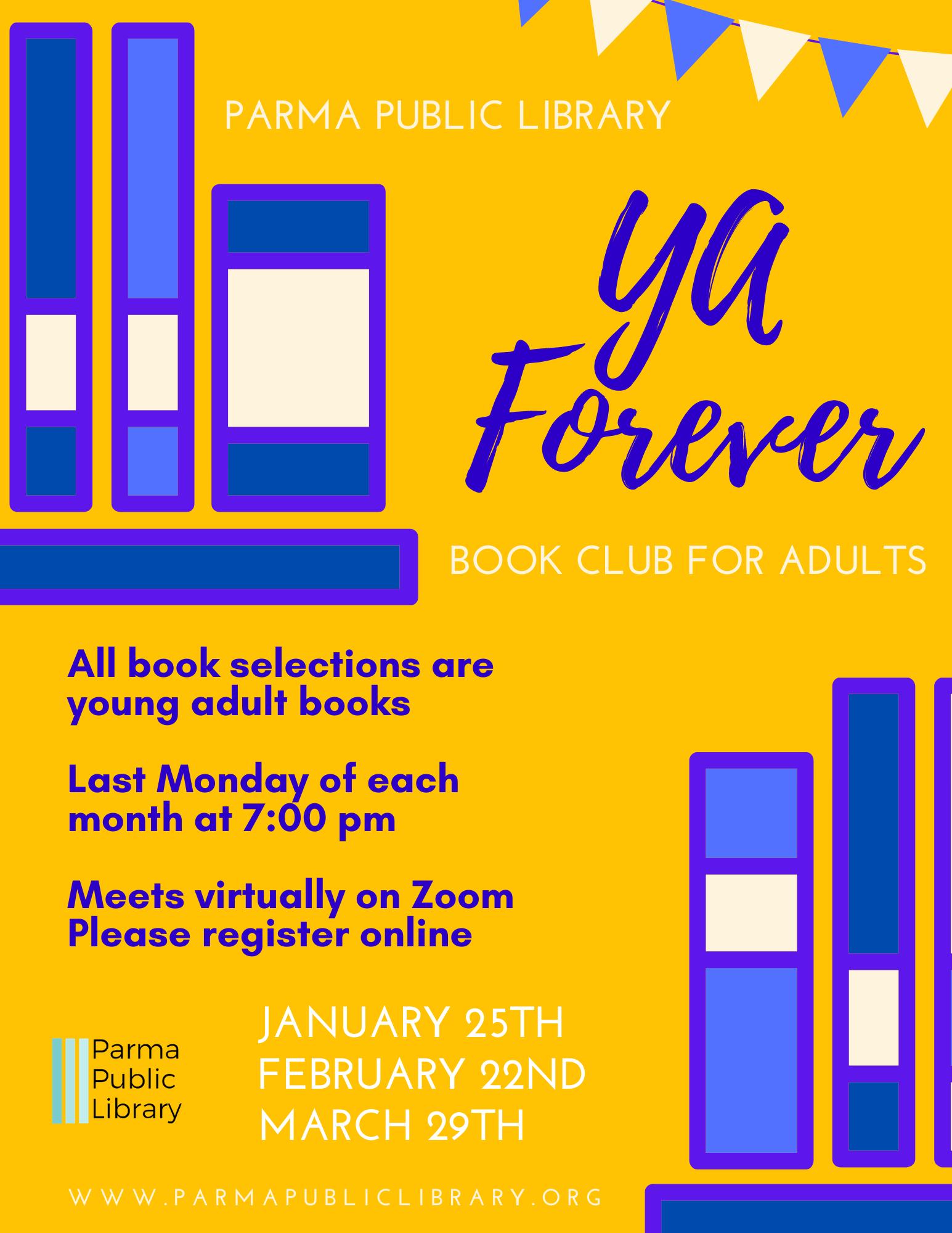 YA Forever Book Club for Adults-VIRTUAL