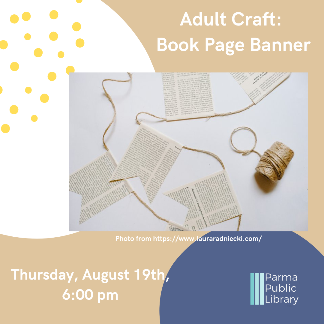Adult Craft: Book Page Banner - VIRTUAL