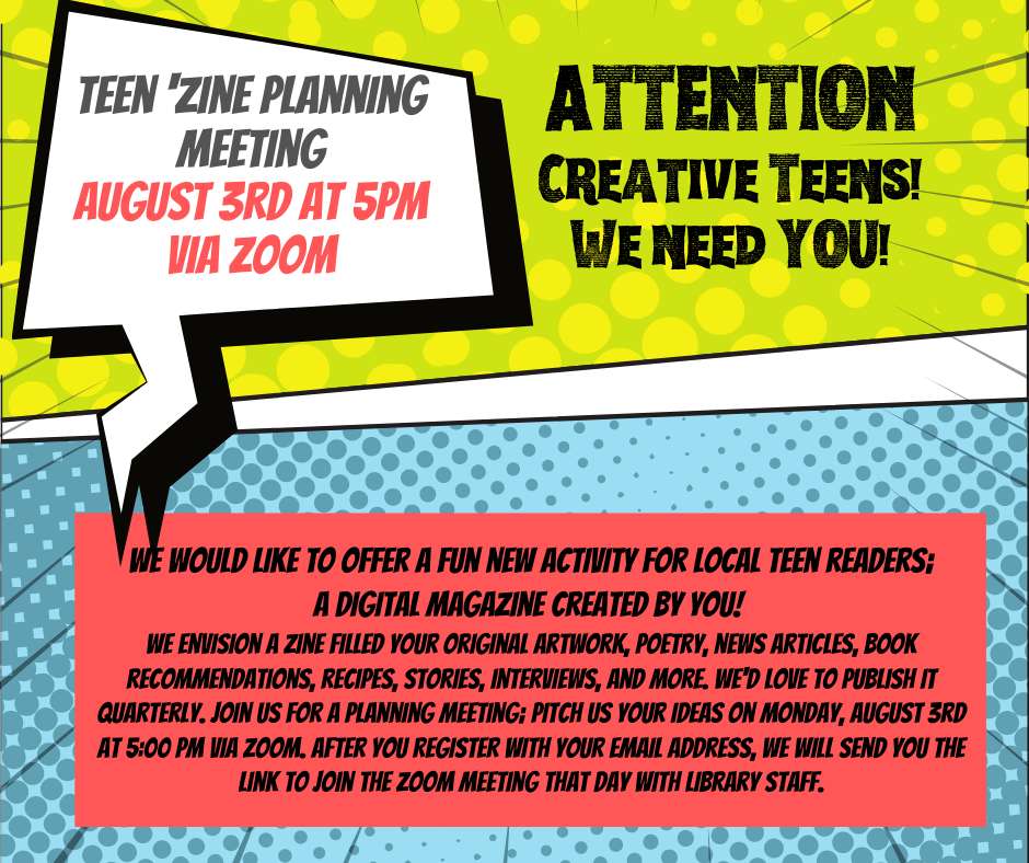 Teen Zine Planning Meeting