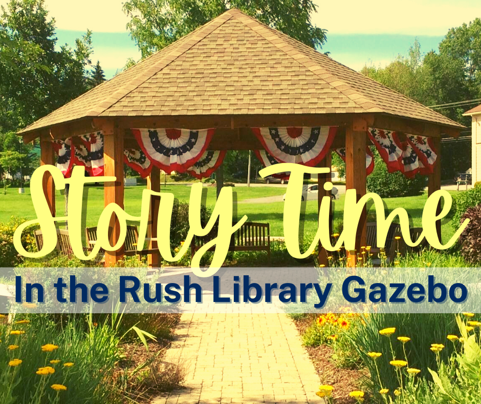 Story Time in the Rush Library Gazebo