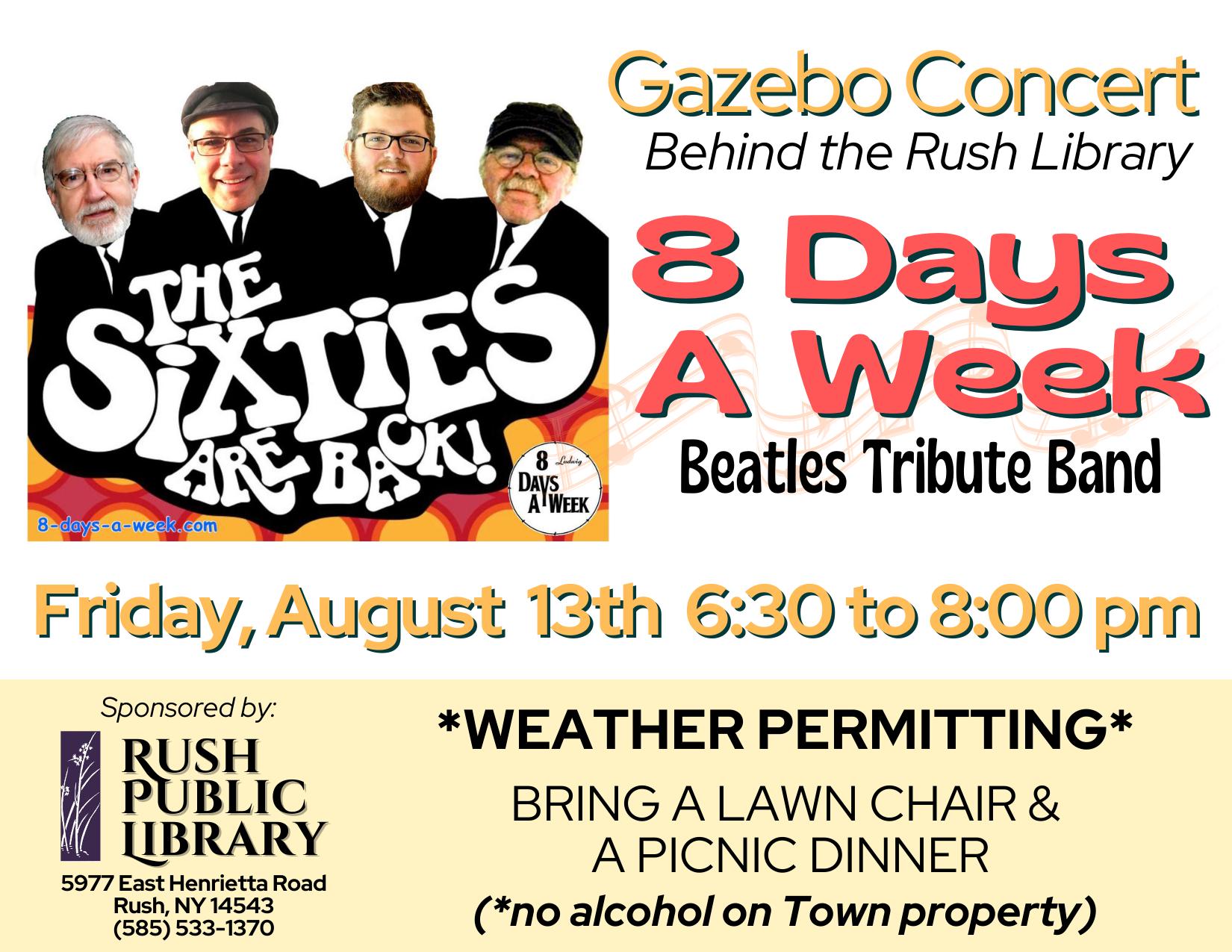 Gazebo Concert: 8 Days A Week