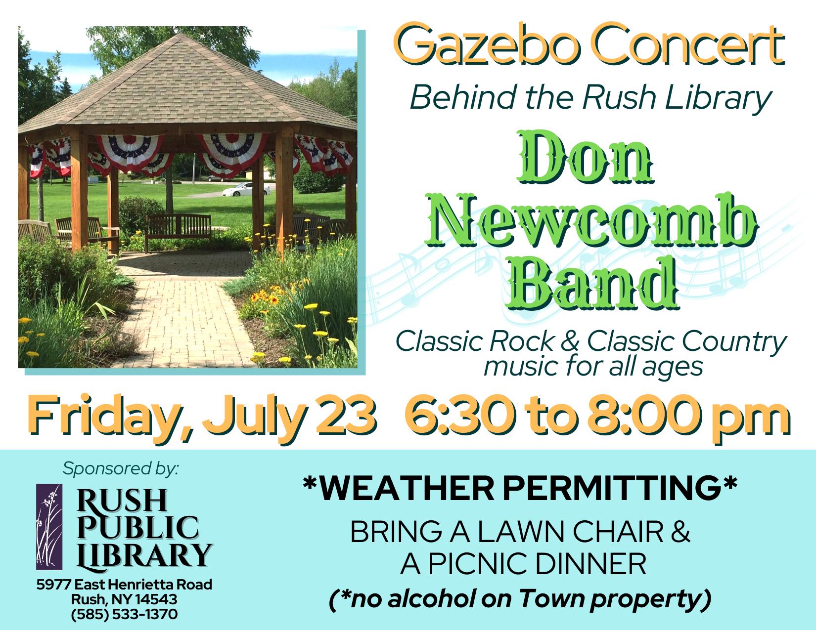 Gazebo Concert: Don Newcomb Band