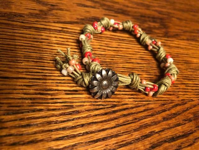 Beaded Cord Bracelet for Teens