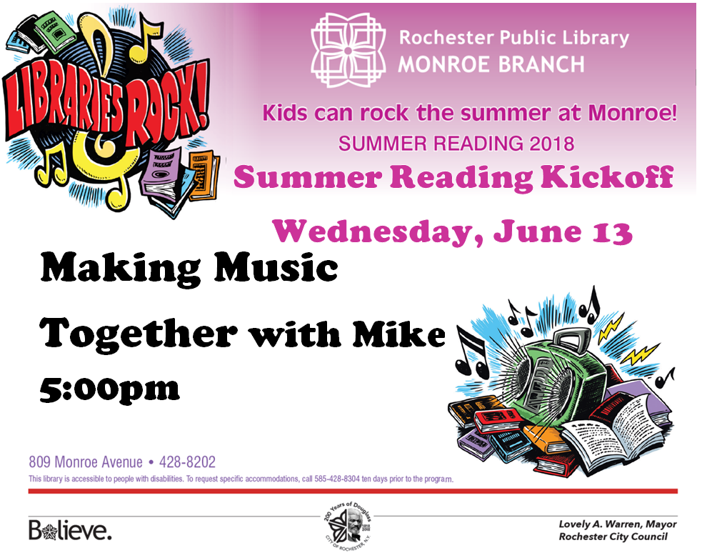 Summer Reading Kickoff: Making Music Together with Mike