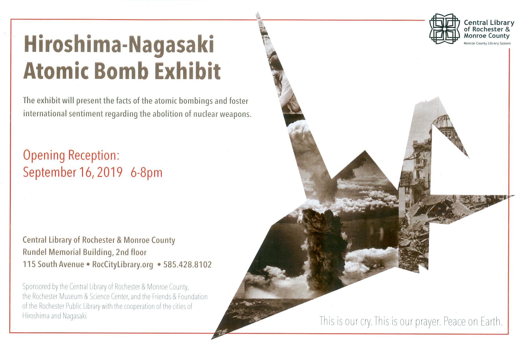 Opening Reception for the Hiroshima-Nagasaki Atomic Bomb Exhibit