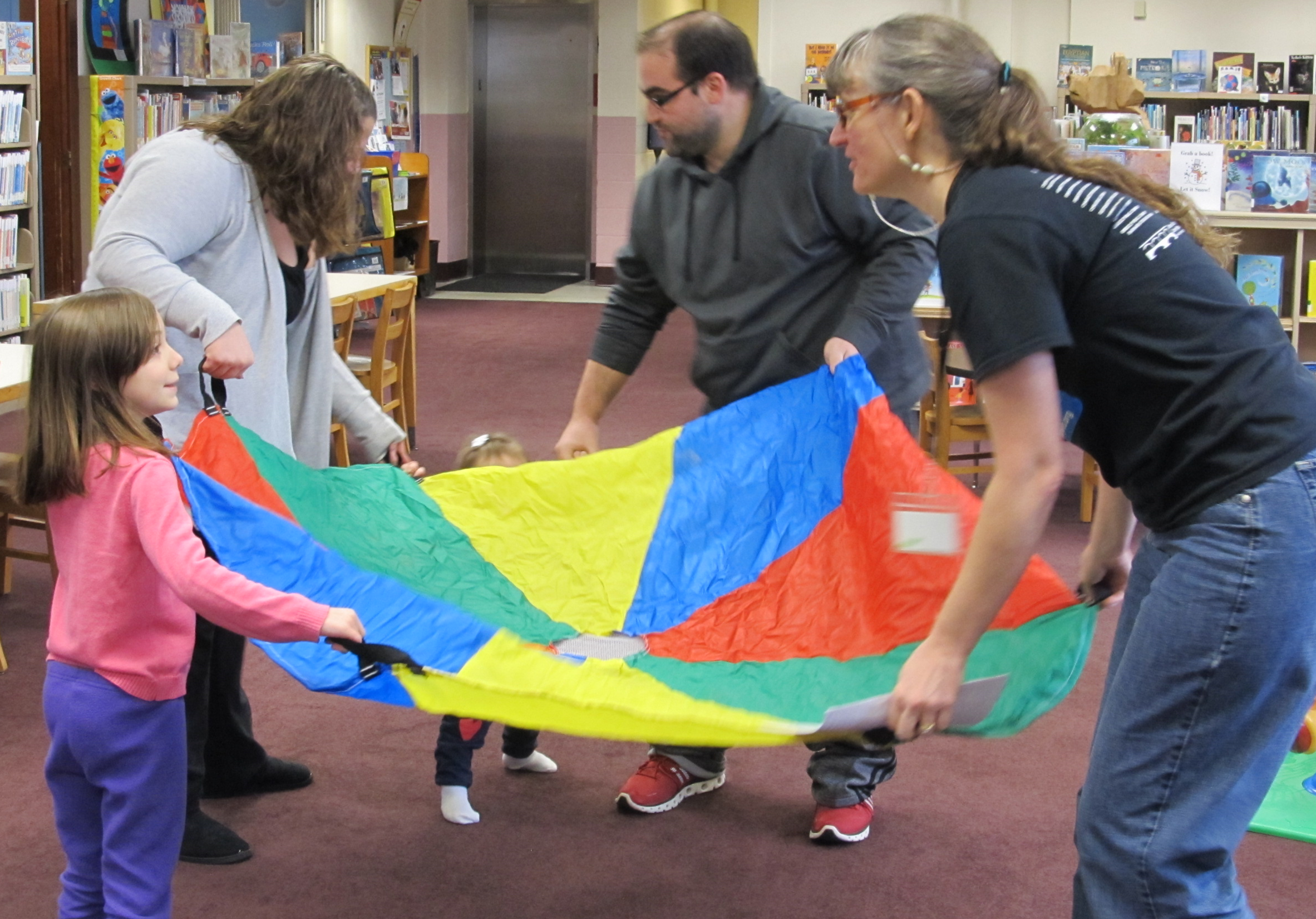 Parachute Play with Kim