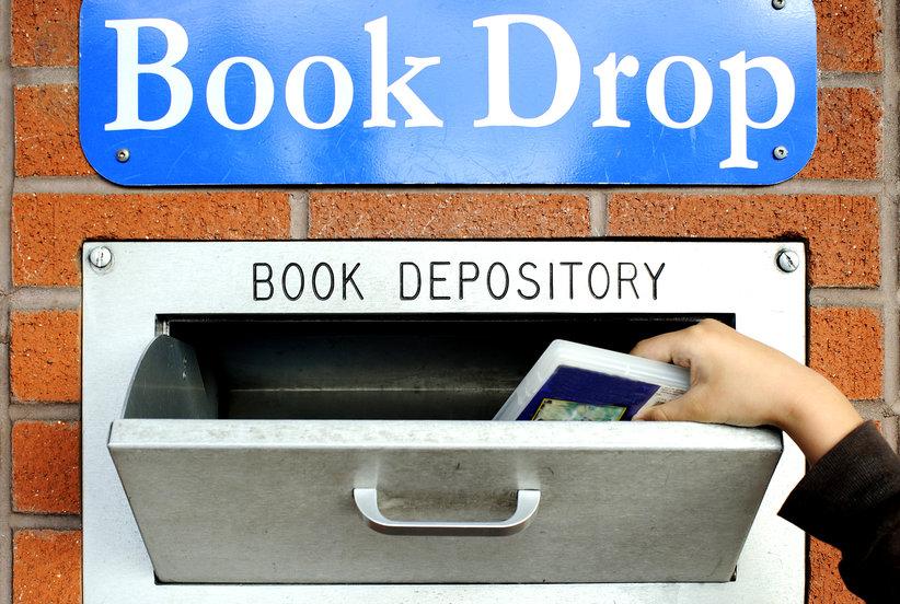 Book drop is open!