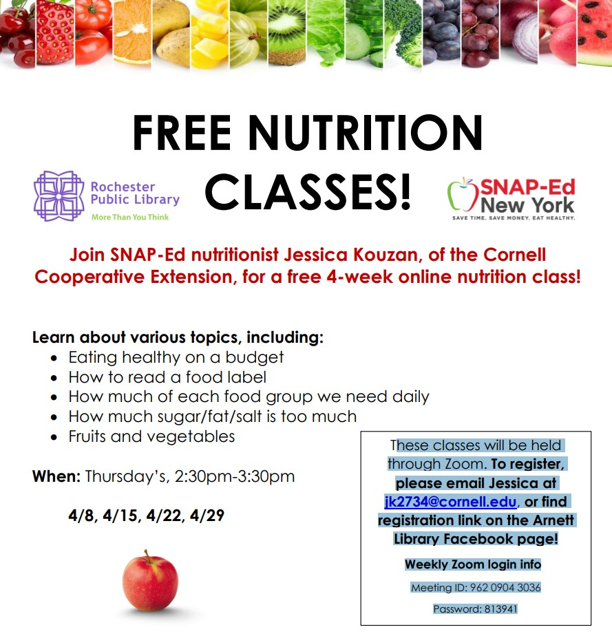 FREE NUTRITION CLASSES!