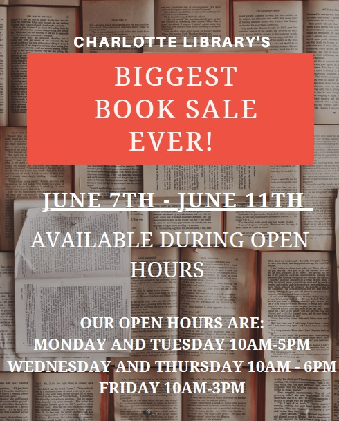 Charlotte Branch LIbrary's Largest Book Sale ever!