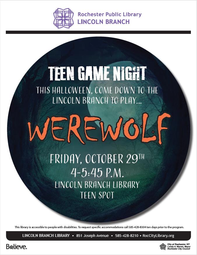 Teen Game Night: Werewolf