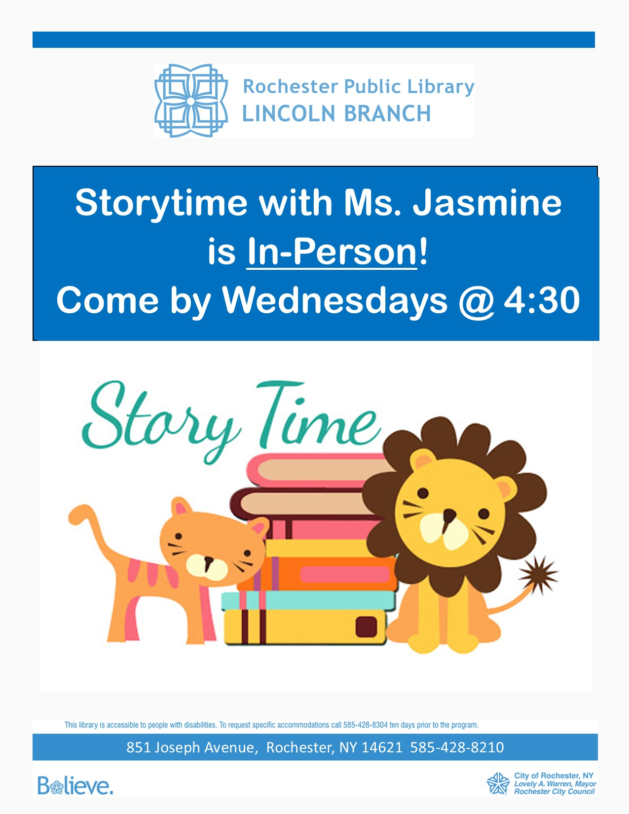 Storytime at the Lincoln Library