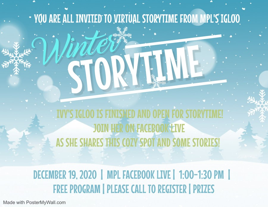 Virtual Winter Story Time from MPL's Igloo