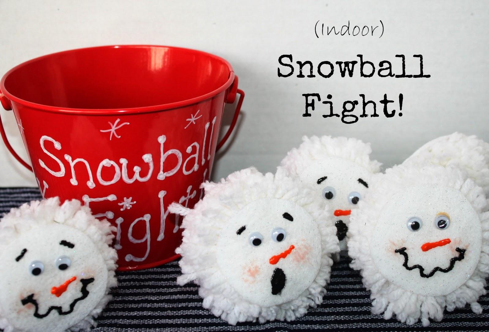 Indoor Snowball Fight!