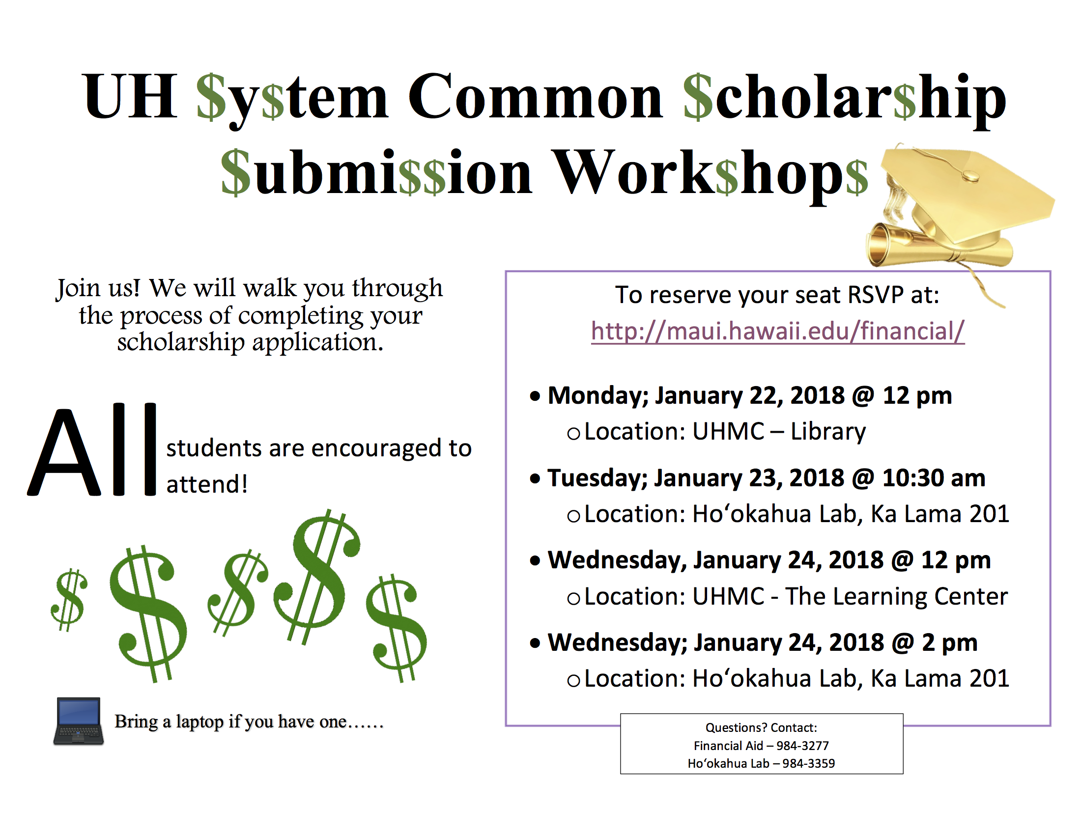 UH System Common Scholarship Workshop