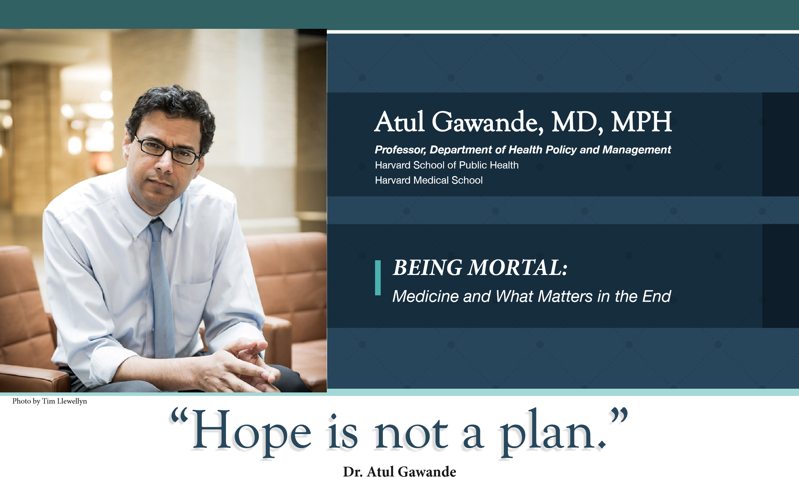 Being Mortal by Atul Gawande: Documentary and Discussion
